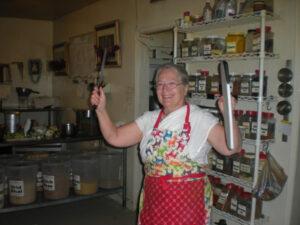 Sureshwari Devi in the kitchen