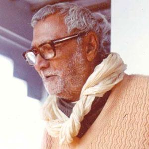 Srila Bhakti Rakshak Sridhar Dev-Goswami Maharaj on his veranda at Sri Chaitanya Saraswat Math in Nabadwip, India