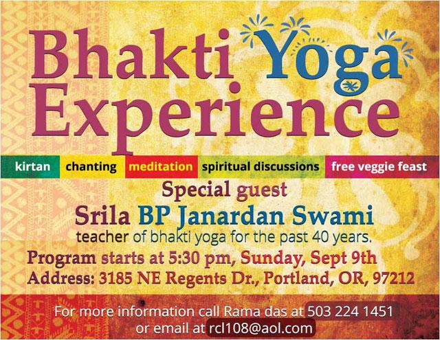 Invitation to See Janardan Maharaj in Portland