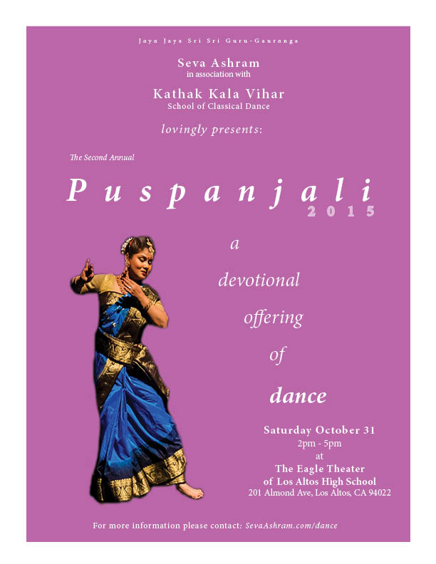 poster for puspanjali dance performance
