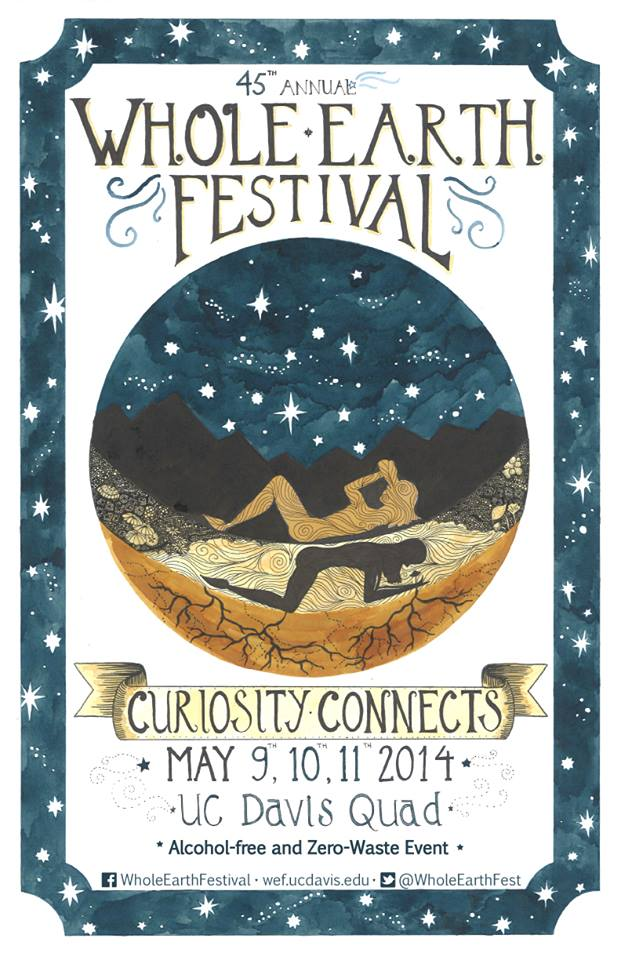 Official poster for Davis Whole Earth Festival 2014