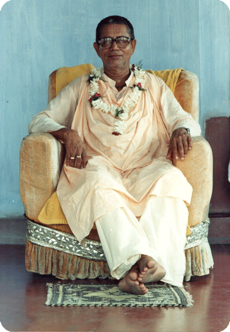Srila Govinda Maharaj on Guru Maharaj's Veranda