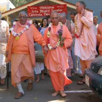 Gurudev and Janardan Maharaj in Soquel