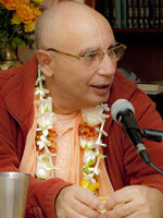BPJ at inaguration of Srila Govinda Maharaj's Pushpa Samadhi Mandir