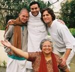 Jairam Prabhu and friends at the Seva Ashram