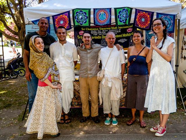 2012 Seva Ashram booth group photo at Rejuvenation Festival 1